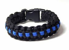 550 Paracord Survival Bracelet Police Tribute thin blue line