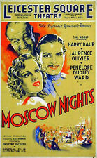 MOSCOW NIGHTS 1935 Laurence Olivier, Harry Baur UK 12x20 POSTER