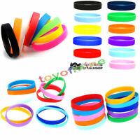 2Pcs Unisex Silikon Gummi Stretchy Sport Cuff Armband Armreif Wristband