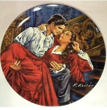 "1986 Collector Plate ""Scarlett and Rhett -The Finale"", Gone With The Wind 19200D"