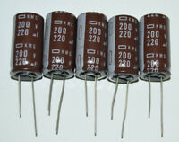 LOT OF 5 E.CAP//10UF 25VD  RADIAL CAPACITOR 105DEG 10UF 25V