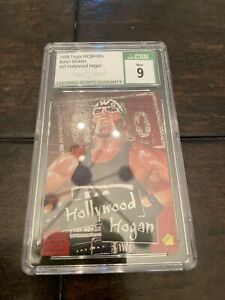 Hollywood Hulk Hogan 1998 Topps WCW/nWo Stickers Card #S5 CSG 9 Mint