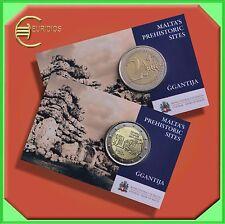 """2 x 2 Euro € Gedenkmünze Malta 2016 CoinCard """"Ggantija"""" mit Mzz der MdP Vers.1+2"""