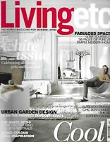 Living Etc. Magazine White Issue Urban Garden Design Neutral Home Decor 2013