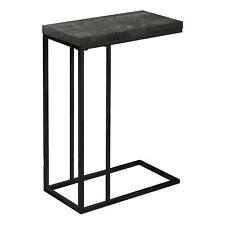 Monarch Specialties Contemporary Accent Side End Table, Black Wood (Open Box)