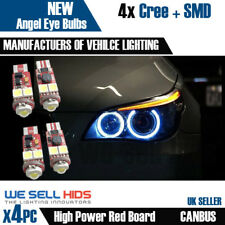 4X BMW E60 *XENON WHITE** ANGEL EYE LED CANBUS BULBS  5 series E61 pre LCI Rings