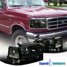1992-1996 Ford Bronco F150 F250 F350 Headlights+Bumper+Corner Lamps Assembly 2PC