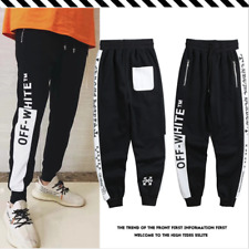 OFF WHITE 2018 Autumn Hip Hop Trousers Student Couple Sports Trousers