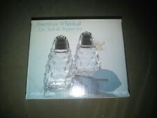 Vintage American Whitehall Clear Cut Glass Salt and Pepper Shakers Set