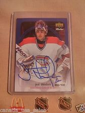 99-00 MONTREAL Canadiens Jose Theodore Autographed card **RARE** Serial Numbered