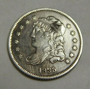 1835 - Silver Capped Bust Half Dime - 5¢