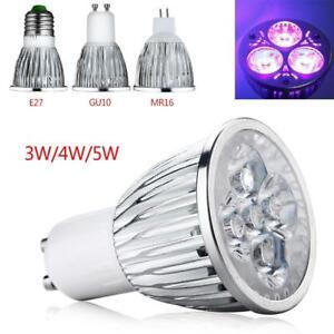 E27 GU10 MR16 4W/5W UV LED Ultraviolet Spotlight Lamp Light Mini Bulb AC85-265V