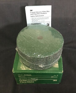 """3m P/N 01924 Green Corps 7"""" X 7/8"""" 16 Grade Grit 20 Disc Package"""