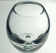 Heavy Crystal Bubble Bottom Vase