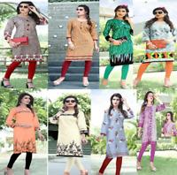 Women Indian Pakistani Kurti Kurta Cotton Long Bollywood Shirt Dress tunic top