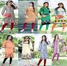 Women Indian Pakistani Kurti Cotton Long Kurti Kurta Shirt tunic top