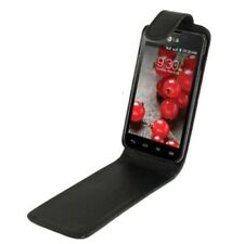 Flip cover/móvil-funda a lg optimus e460 l5 II-negra, funda bolsa/