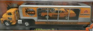 DODGE 1957 COE TRUCK ORANGE HEMI PLYMOUTH 69 ROADRUNNER TRAILER TRACTOR 14-23 M2