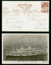 Mayfairstamps Finland 1952 Olympics Slogan MS Botory Ocean Line Real Photo Postc