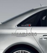 Powered by AUDI Vinyl Decal sticker Sport Racing window emblem SILVER/RED