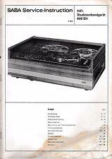 Service Manual-Anleitung  Saba TG 600 SH Studiotonbandgerät