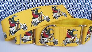 Brighton Bound Hounds by James Hardy 50mm Martingale Collar, Greyhound