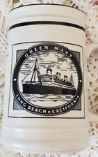 Queen Mary Mug Cup Long Beach California Ship Specifications and Facts Excellent