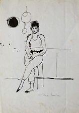 KITCHEN original life drawing woman portrait cooking art Mother's gift BELAUBRE