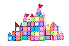 Royal Kiddos Magnetic Building Blocks Toys for Kids Magnetic Tiles 124 PCS