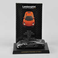 KYOSHO 1/64 Black Diecast Lamborghini Aventador LP700-4 Collectible Car Model