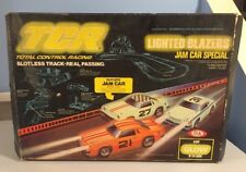 VINTAGE IDEAL TCR LIGHTED BLAZERS JAM CAR SPECIAL!!!  EVERYTHING PICTURED