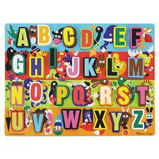 Melissa and Doug * Jumbo ABC Alphabet Chunky Puzzle * NEW easy-grasp wooden