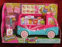 NIB~Retired Shopkins Glitzi Ice Cream Truck w/4 Exclusive Glitz Shopkins