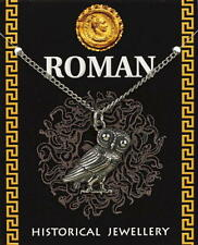 Roman Owl (24mm) Pendant - Pewter - with information card [ROPPCH)