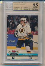 1991 Stadium Club Hockey Ray Bourque (HOF) (#233) (All 9.5 sub grades) BGS9.5