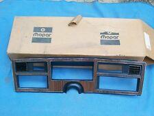 1977 1978 Aspen Volare NOS MoPar Woodgrain INSTRUMENT CLUSTER SPEEDOMETER BEZEL