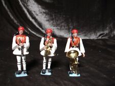 Vintage Greek Pal Aohna Plastic Toy Soldiers/ band, set of 3.