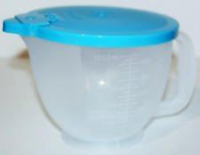 Tupperware Mix N Store Classic Measuring Mixing Pitcher 4-Cup / 1L Blue Seal New