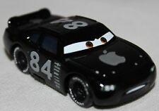 Disney Pixar Cars Nascar Apple No 84 schwarz Metall 1/55 Vitrinenmodell