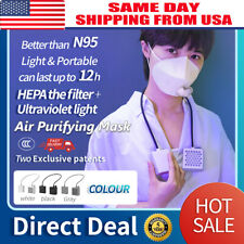 Electrical Airpro Mask Rechargeable Powered With 2 Mask Air Purifying Respirator