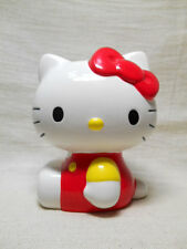 HELLO KITTY Ceramic Piggy Coin Bank Vintage Rare Second hand Excellent Japan