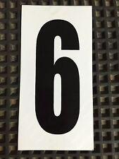 Go Kart - Number #6 - White Background - Large - NEW