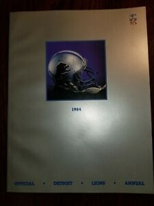 NOS!☆ MINT ☆ 1984 Official Detroit LIONS Annual 10 AVAILABLE