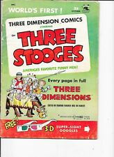 The Three Stooges  3-D   #2  with glasses  Kubert art
