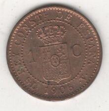 SPAGNA 1 CENTESIMO 1906 FDC RAME ROSSO DA ROTOLINO - ALFONSO XIII #MP5