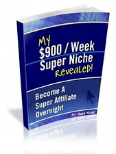 $900 Dollars Per Week Super Affiliate Niche;  Discover Marketing Tactics (CD-ROM