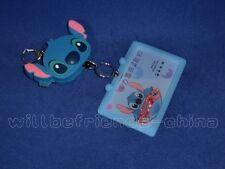 Cute stitch Can-stretch Key Ring Keychain IC ID Card Holder Skin Cover Bag Charm