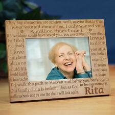 Personalized In Loving Memory Memorial Picture Frame Engraved Memories Frame