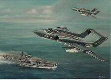 Hawker Siddeley Sea Vixen Dorset  aircraft carrier Fleet Air Arm Royal Navy card