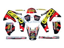 TEAM GEICO GRAPHICS DECAL STICKERS KIT HONDA CRF150R CRF LIQUID COOLED I DE54